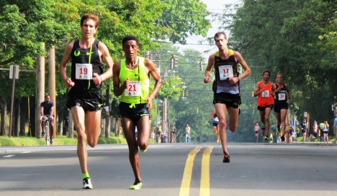 Last straightaway of 20k US Champs.  (photo by Jane Monti for Race Results Weekly)